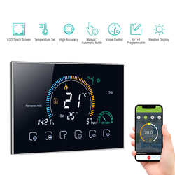 Wi-Fi Thermostat Programmable Termostato Wifi Caldera Gas Water Boiler Six Period Voice APP Control LCD For Echo Google Home