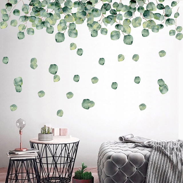1 Set Of Green Foliage Leaves Botanical Wall Stickers 4