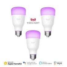 Yeelight 스마트 LED 전구 색상 버전 E27 E26 10W 800 루멘 WiFi 원격 제어 HomeKit MIJIA APP Xiaomi youpin에서 작동