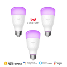 Yeelight akıllı LED ampul renk versiyonu E27 E26 10W 800 lümen WiFi uzaktan kumanda ile çalışmak HomeKit MIJIA APP xiaomi gelen Youpin