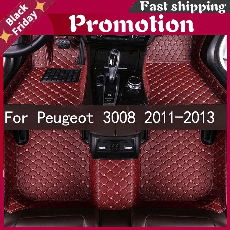 Car Floor Mats For Peugeot 3008 2011 2012 2013 Custom Auto Foot Pads