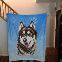 Personalized Photo Pet blanket, Custom Dog Blankets, Design your own Blanket, Extra large plush blankets, Pet Blankets