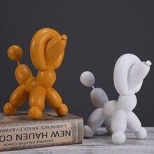Creative Balloon Dog Resin Crafts Decorative Ornaments Modern Art Home Decoration Figurine Office Desk Accessories