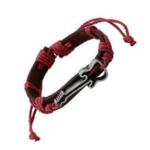 Punk Guitar Woven Leather Bracelet Men's Jewelry Hand Knitting Wrist Strap High Quality Individual Wrist Strap Vintage Unisex