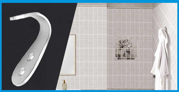 Ze stali nierdzewnej hak kapelusz płaszcz wieszak na drzwi ściany łazienka ręczniki kuchenne uchwyt na narzędzia do przechowywania w gospodarstwie domowym gadżety artykuły gospodarstwa domowego