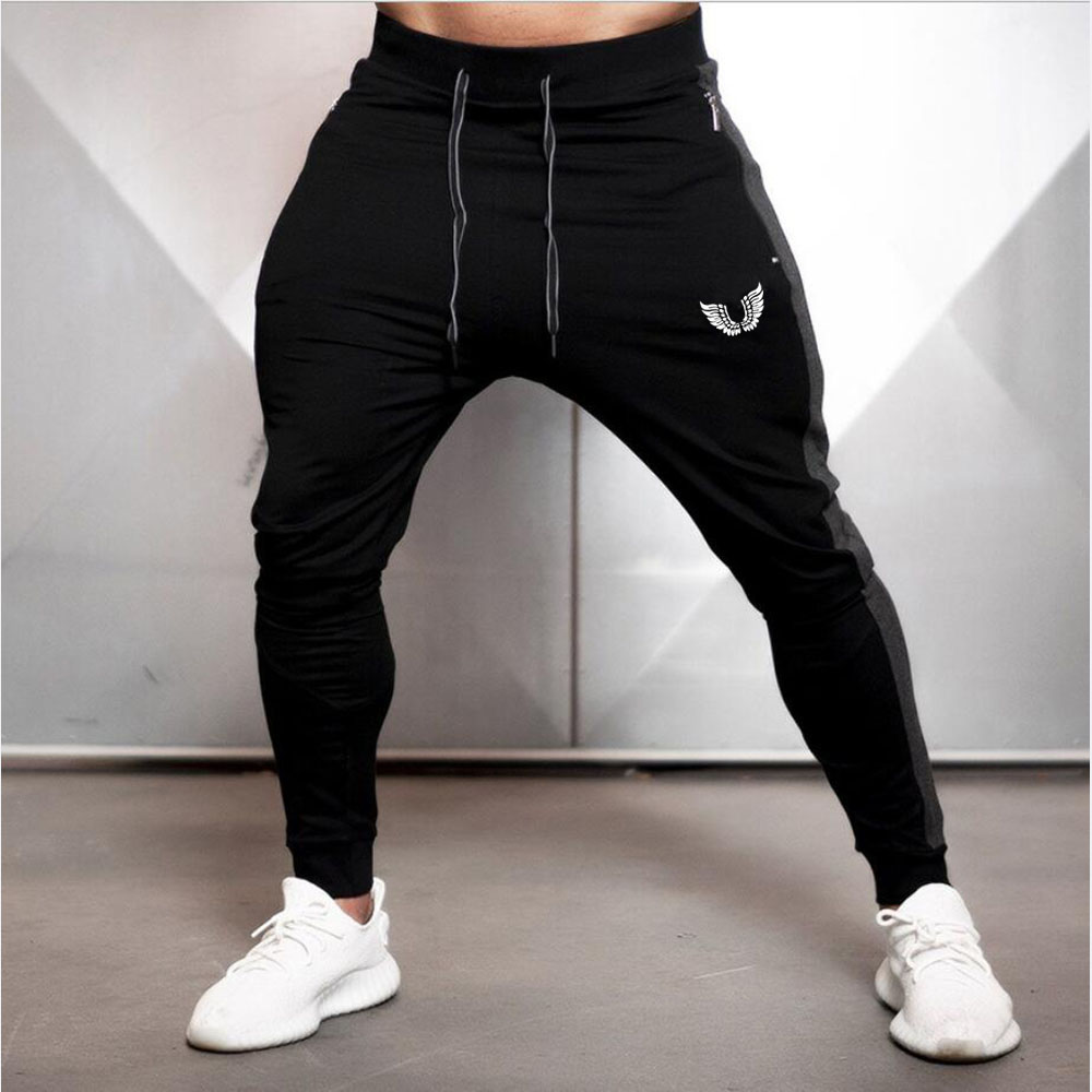 2019 Fashion Men Side Seam Side seam stitching Skinny Sportswear Sweatpants Male Casual Leggings Trousers Joggers Pants Men 9