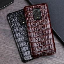 Upscale Mannen Echt Lederen Telefoon Case Voor Xiaomi Redmi Note8 Pro Koeienhuid Telefoon Case Mi Note 7 8 9 10 Max Plus Lite Mix