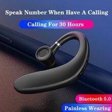 Kowkaka Wireless Headphone Ear Hook Bluetooth 5.0 Earphone Waterproof Earphones Single Ear