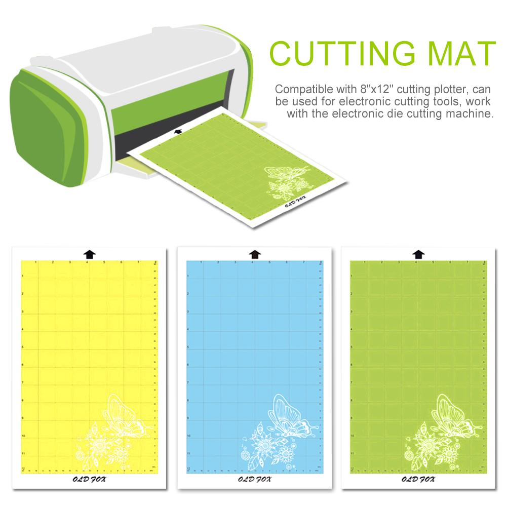 Replacement Cutting Mat Transparent Adhesive Mat Pad With Measuring Grid 8 By 12-Inch For Silhouette Cameo Plotter Machine