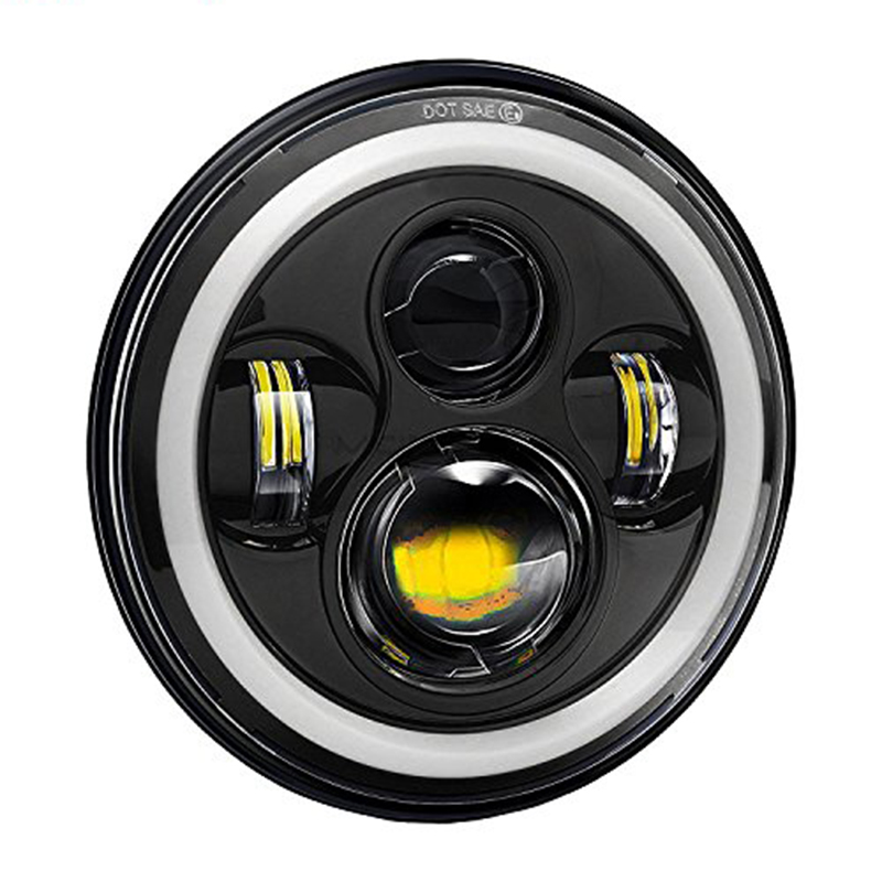 7 Inch Round DRL Motorcycle Led Headlight System For Harley Davidsion Accessories Cafe Racer