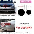 2 шт. для Golf MK5 125 мм передний Гриль значок 110 мм Задняя Крышка багажника эмблема передняя крышка решетки 125 мм 110 мм Задняя Крышка багажника эмб...