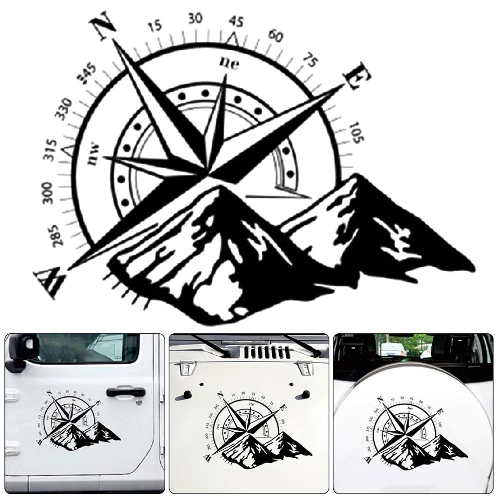 Self-adhesive Compass Pattern Car Door Body Sticker 60cm*50cm Self-adhesive Decal Vehicle Styling Decor