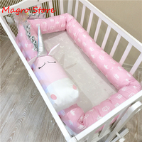 2M newborn crib enclosure Children's bed safety crash barrier cotton bed leaning Crib bumper in crib baby room decor