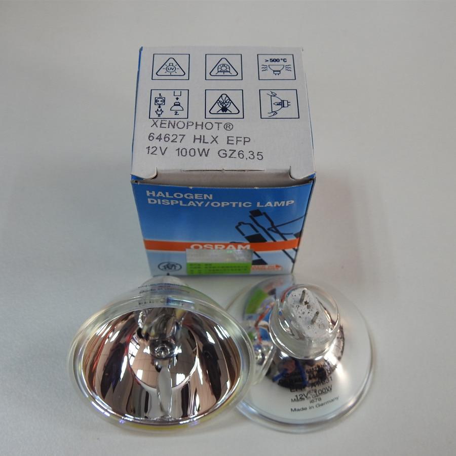 XENOPHOT OSRAM 64627 HLX EFP 12V 100W GZ6.35 Optic Halogen Lamps For Microscope,12V100W Bulb