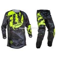 Free shipping 2019 Fly Fish Racing Pants & Jersey Combos Motocross MX Racing Suit Motorcycle Moto Dirt Bike MX ATV Gear Set