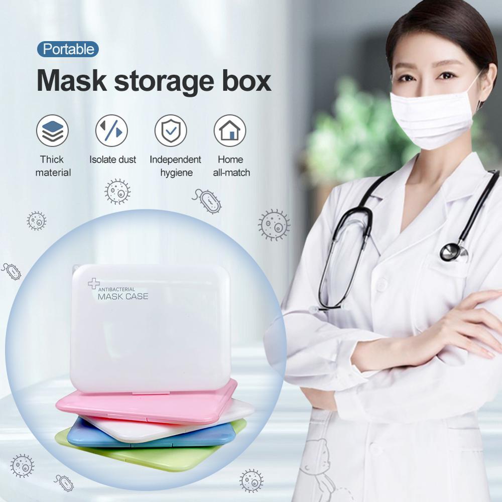 New KN95 PP Silver Ion Mask Storage Case Disposable Mask Storage Box N95 Portable Mask Storage Box Face Mask Storage Holder Case(China)