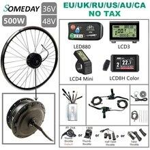 Pewnego dnia 36V/48V 500W zestaw do konwersji roweru na elektryczny 16  29 700C bezszczotkowy piasta przednia koło silnikowe do roweru elektrycznego