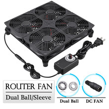 Gdstime 120mm TV Box Router Fan 12CM DIY 4 Fan Universal Notebook Base Large Air Volume Radiator Adjustable Speed Cooling Fan