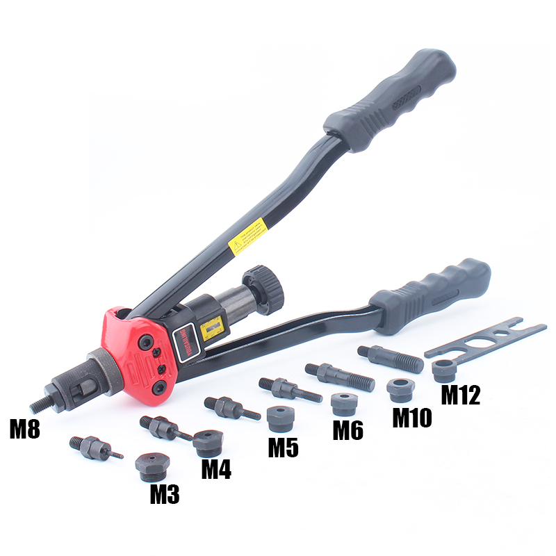 "YOUSAILING BT-607 16""  Heavy Duty Manual Riveter Guns Hand Riveting Tool Hand Rivet Nut Gun M3/M4/M5/M6/M8/M10/M12"