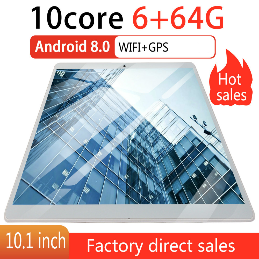2019 2.5D Screen Android 8.0 10 Inch 4G Network WiFi Tablet PC Dual SIM Call Phone Tablet Gifts(RAM 6G+ROM 64G) Tablet Gifts