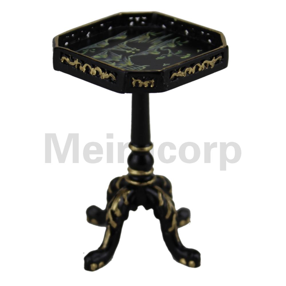 Dollhouses 1/12 scale fine miniature furniture Hand Carved Small Tea table