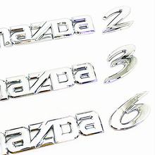 3D хромированный Серебряный автомобильный значок, наклейка с буквами для Mazda 2 3 6, наклейка для заднего багажника, стикер для автомобильного с...