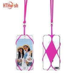 Sangle de téléphone portable mignon dessin animé fleur chat lanière cou sangle pour clés carte d'identité S pour Huawei USB porte-Badge bricolage accrocher corde