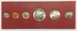 Kanada 1967 1 Cent -dollar Vollen Satz 6 Stück Unc Echt Original Münzen Sammlung mit 4 Silber Münzen