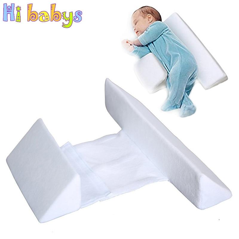 baby shaping side sleeper pillow newborn sleep positioner wedge crib anti rollover cot nursing soft pillow baby sleeping care