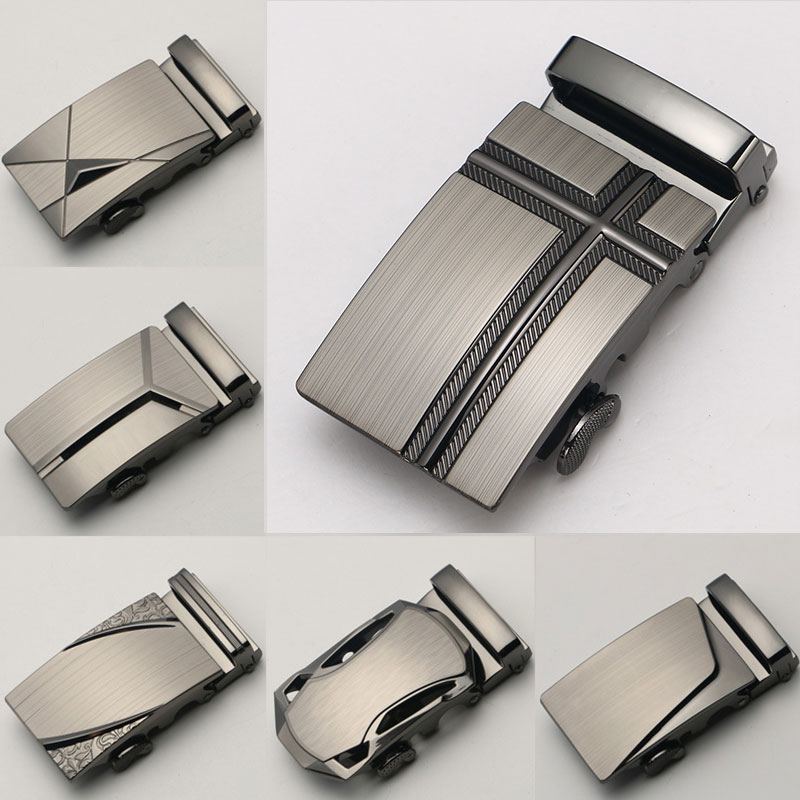 Replaceable Men's Belt Buckle Trousers Buckle Head Casual Automatic Buckle For Width 3.5CM Belt Buckle DIY Belt Accessories