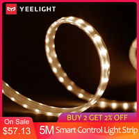 YEELIGHT 5m LED Smart Light Strip White Color Adjustable Extendable Light Band App Remote Control