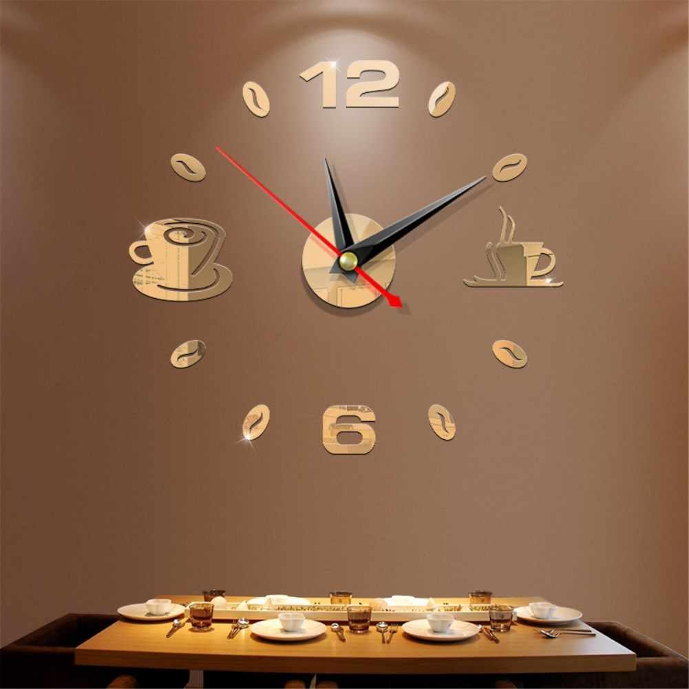 Espelho 3d relógio de parede adesivo de parede função criativa decoração de casa interior harmonioso diy moderno grande espelho de relógio de parede kit espelho