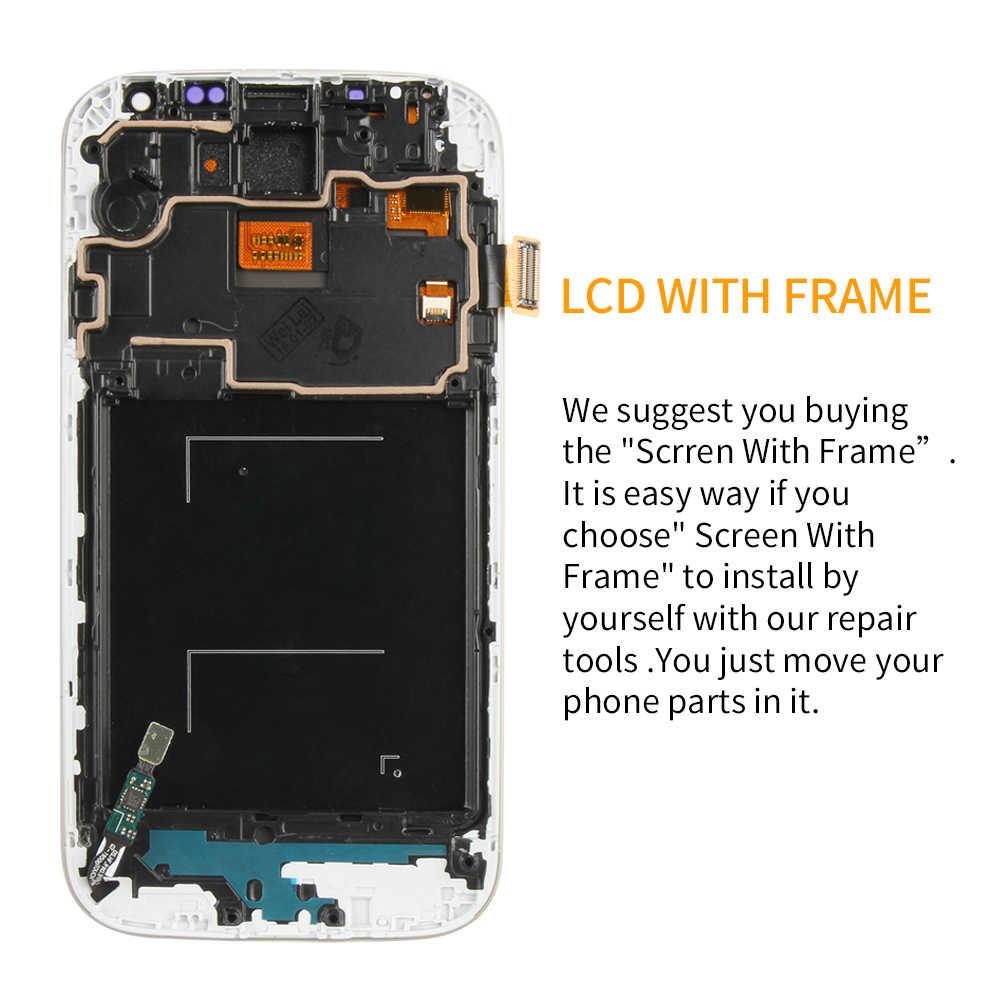 5.0 ''LCD لسامسونج غالاكسي S4 LCD عرض مع الإطار GT-i9505 i9500 i9505 i9506 i9515 i337 شاشة تعمل باللمس محول الأرقام