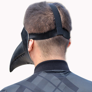 Image 4 - Retro Steampunk Plague Doctor Cosplay Mask Bird Gothic Punk Funny Latex Party Halloween Costumes Props