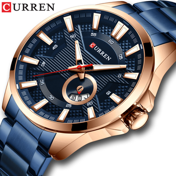 CURREN Business Quartz Watch for Men Luxury Men's Brand Stainless Steel Wristwatch Relogio Masculino Waterproof Clock - discount item  72% OFF Men's Watches