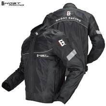 GHOST RACING Motorcycle Jacket Motorbike Riding Jacket Windproof Motorcycle Full Body Protective Gear Armor Winter Moto Clothing lyschy motorcycle jacket motorbike riding jacket pant waterproof motorcycle full body protective gear armor winter moto clothing