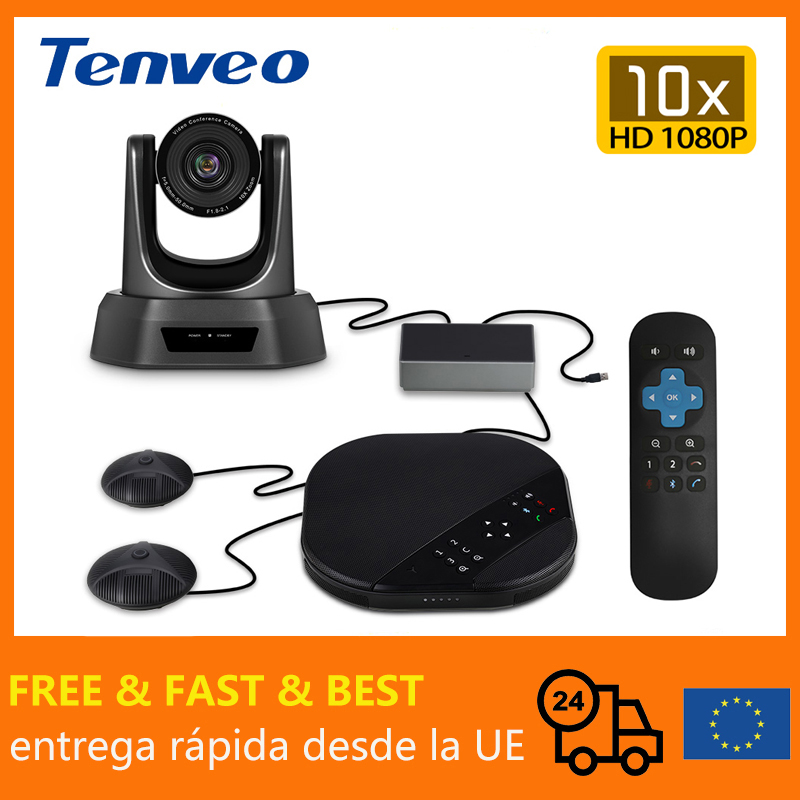 Tenveo VA3000E 2MP 10x zoom video audio conference solution Video conference system group speakerphone and HUB for Broadcasting