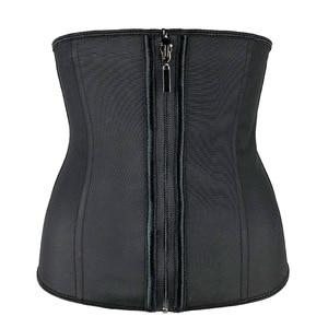 Image 5 - XXS 6XL Corset Body Shaper Latex Waist Trainer Cincher Zipper Underbust Weight Loss Slimming Shapewear Hourglass Belt Women Plus