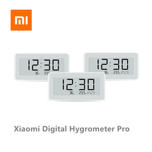 Беспроводные цифровые часы Xiaomi Mijia BT4.0, умные часы для помещения и улицы, гидрометр, термометр, ЖК экран, измерение температуры