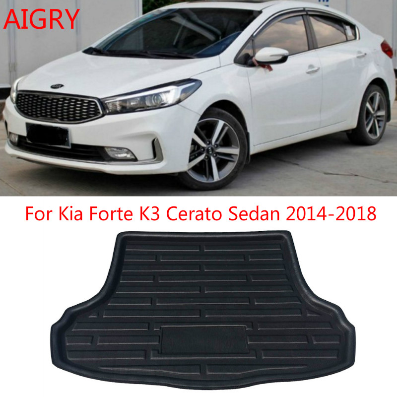 Fit For Kia Forte K3 Cerato Sedan 2014 2015 2016 2017 2018 Rear Trunk Mat Cargo Tray Boot Liner Carpet Protector Floor Pad