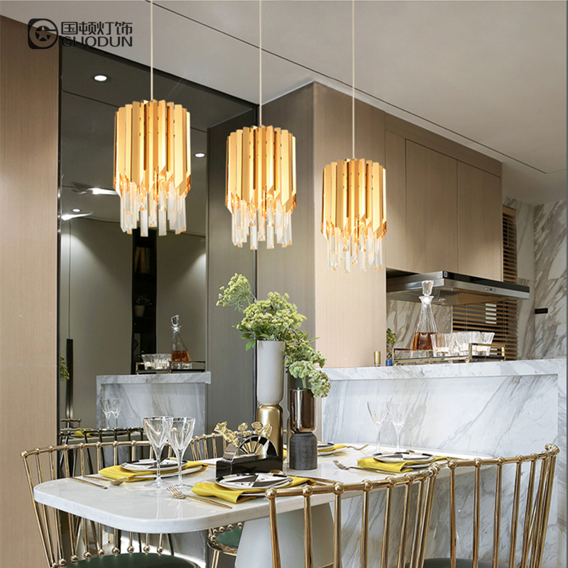 Luxury Post-modern Minimalist Creative Restaurant Chandelier Designer Bedroom Bedside Lamp Stainless Steel Personality Balcony