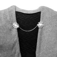 1 шт., женский кардиган из сплава, свитер, блузка, шаль, пряжка, воротник, клипсы, броши, воротник рубашки, Ретро Застежка, застежки, подарок для женщин
