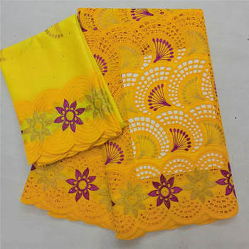 Hot sale african swiss voile lace in switzerland 5+2yards nigerian lace fabrics latest african laces 2020 cotton lace ! HL40408