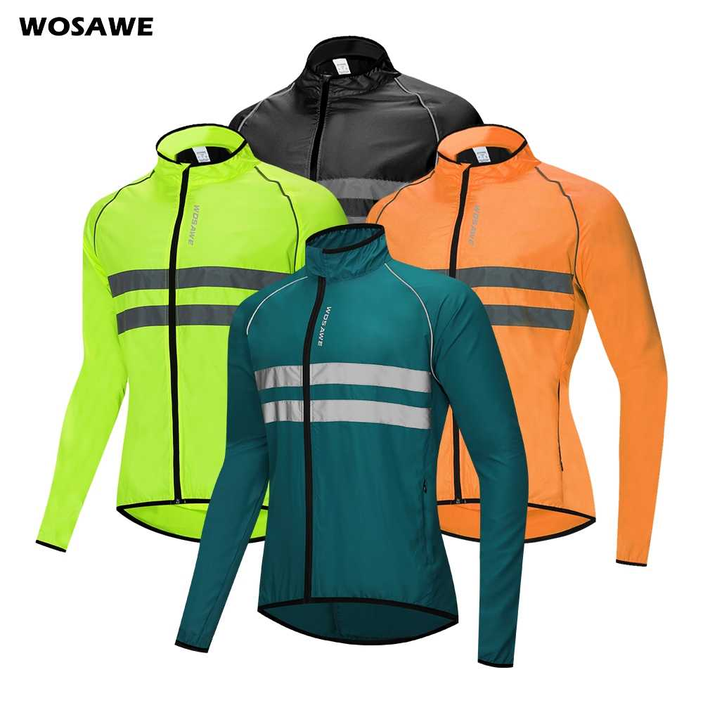 Cycling Jacket Lightweight Windproof Waterproof Coat Full Zipper Sport Top M-3XL