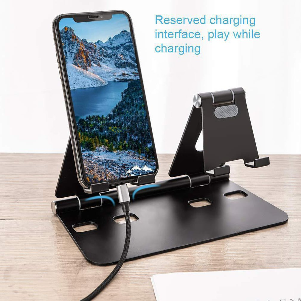 Mobile Phone Holder Tablet Mobile Phone Holder Adjustable Mobile Phone Tablet Holder Two Seat Bracket Mobile Phone Accessories