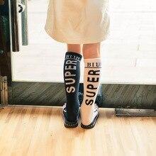 Stockings High-Socks Baby-Girls Kids Cotton Children Fashion Knee KF215 3-12-Years