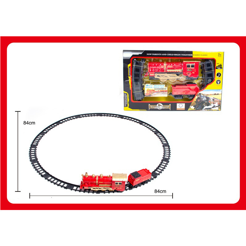 CHILDREN'S Toy Electric Smoke Rail Train Model Classic Camera Track Steam Train CHILDREN'S Toy Set