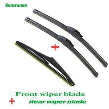 Lâminas de limpador dianteiras e traseiras senwanse para suzuki grand vitara 2005-2015 limpador de pára-brisas de alta qualidade 19