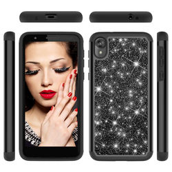 На Алиэкспресс купить чехол для смартфона beautiful bling glitter phone case for motorola moto e6 g7 power z4 g7 z3 z3 play e5 g6 play shining shockproof pc hard cases