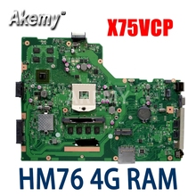 Laptop X75VCP ASUS HM76 for X75vb/X75vd/X75vc/.. Mainboard 4G Gt720m-support/I3/I5/..